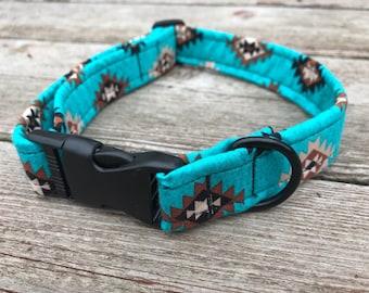 "Handmade Dog Collar - ""Trading Post"""