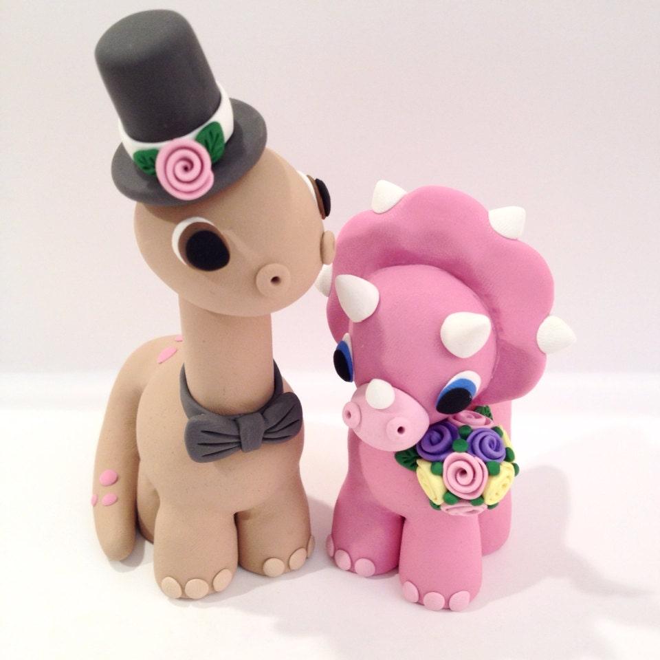 Dinosaur Wedding Cake Topper Choose Your Colors