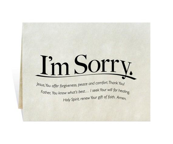 Im Sorry printable card clip art prayer for apology