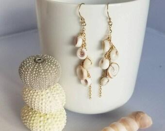 Puka shell earrings