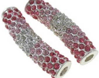 1pc fashion tube rhinestone pave beads for jewelry making brass tube-4818b