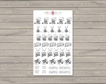Addie Knits Planner Stickers