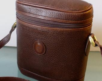 Vintage Mark Cross New York Binocular Case Crossbody Bag