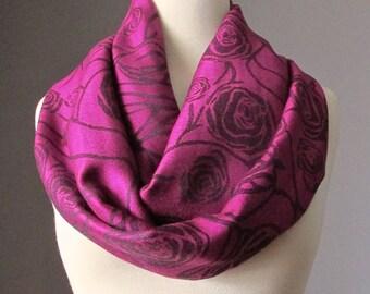 Dark Fuchsia scarf, Berry scarf, rose infinity scarf, pashmina infinity scarf, pashmina scarf