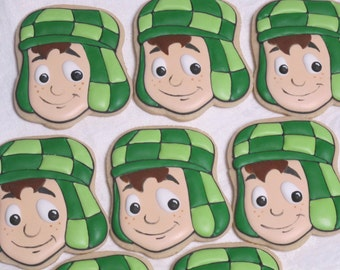 El Chavo Del Ocho Decorated Sugar Cookies - El Chavo Animado, el Chavo del Ocho, Birthday Party, Party Favors, Cookie Favors, Custom Cookies