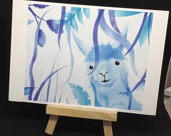 Lama Postcard Alpaca Letter