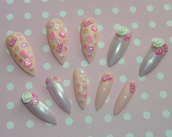 Long Kawaii Stiletto Nails