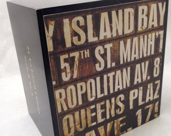 NEW YORK Queens Cigar Box Upcycled