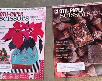 Cloth Paper Scissors magazine, Sept-Dec 2016, 2 issues, excellent condition.