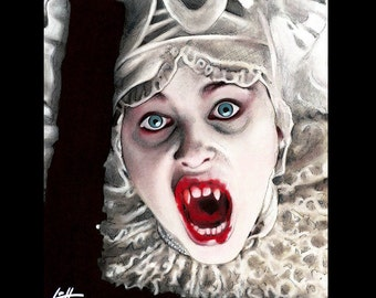 "Impression 11 x 14""- Lucy Westenra-Gary Oldman Bram Stoker Vampire sang Winona Ryder Pop Art Lowbrow Art gothique Sadie Frost créature Dark Art"