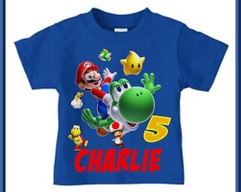 Super Mario Brothers Birthday Shirt