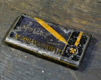 Vintage Metal Cigarette Case Wasteland Postapocalyptic