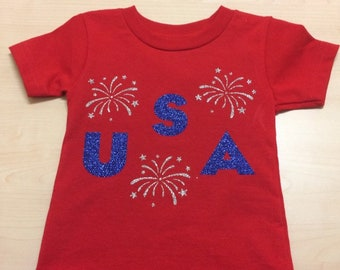 USA Bodysuit/ T-shirt 4th of July / Red White and Blue