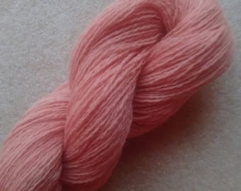 2 ply laceweight 90%lambswool, 10 cashmere.  - Deep Peach 50g