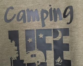 Camping life slouchy tank
