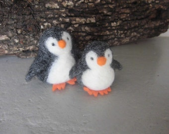 Needle felted Penguin animal, handmade doll,  ecological toy, funny character, adorable, eco-friendly, needle felt animal, wooly friend