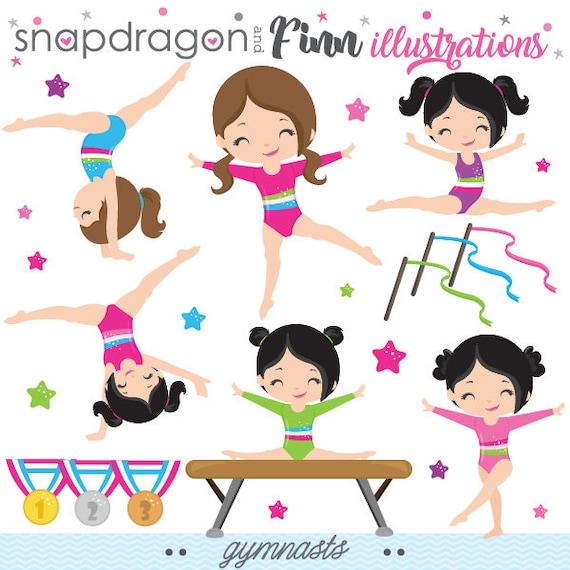 gymnastics clipart gymnast clip art tumbling clipart rh etsy com cheer tumbling clipart tumbling clipart free