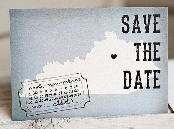 State Save the Date, Save the Date card - The Grey - Rustic Save the Date postcard, vintage, stationery, postcard, state, eco friendly