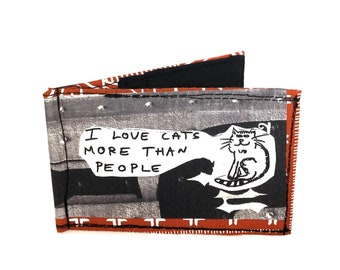 Thin wallet, money clip wallets, men's money clip wallet, bifold wallet, skinny wallet, recycled wallet, funky wallet