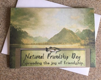 Item #105 Friendship/Encouragement/Thinking of You/Just Because Greeting Card - Masculine Fishing - Isaiah 60:1