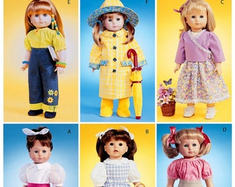 McCalls 4066- Sewing pattern for 18 Inch Doll Clothes- Fits American Girl Dolls
