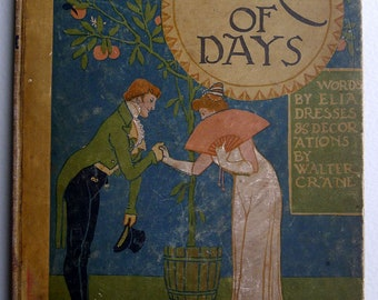 1901. First Edition. Walter Crane  'A Masque of Days From the Last Essays of Elia: Newly Dress Ed & Decorated by Walter Crane.'