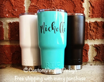 Ships Free! RTIC Tumbler 20 oz or 30 oz, RTIC Cup, RTIC Powder Coated Tumbler, Stainless Steel, Monogram Tumbler, Personalized Gift, Custom