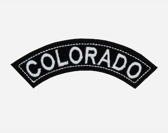 Colorado State Mini Rocker embroidered patch