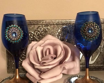 Elaborate Wine Glasses