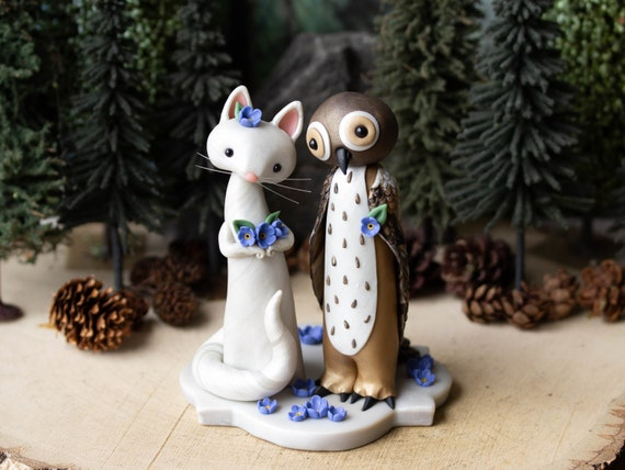 The Owl and the Pussycat Wedding Cake Topper
