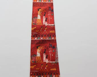 Vintage The British Museum London Silk Necktie 1990s