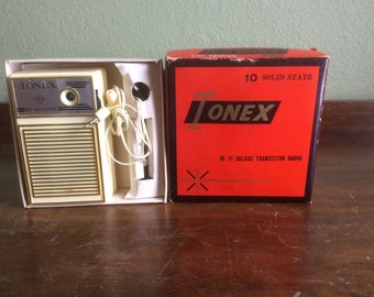 Vintage Tonex HI - FI Deluxe Transistor Radio