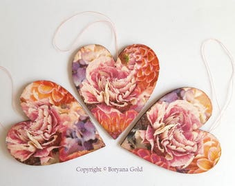 HEARTS, lovely decoration by Boryana Gold