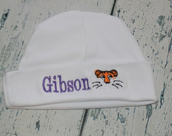 Custom Personalized INFANT Cap Monogrammed You Choose - Tiger