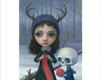 "Thomas Ascott's ""Winter Knitting"" Print - Signed & Numbered"