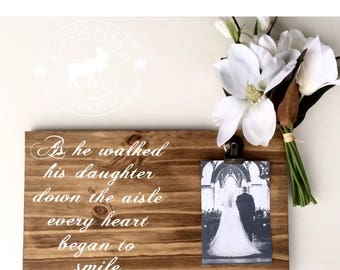 Father of the Bride Wood Sign // Father of the Bride // Wedding Gift // Wedding sign // Father of the Bride gift from daughter
