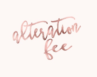 Alteration Fee