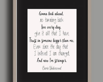 Something In The Water/Carrie Underwood/Stronger/Country Song/Country Lyrics/Encouraging Quote/Carrie Underwood Song/Country Song Hit