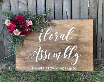 Event Welcome Sign   Wooden sign   Event signage   Welcome Sign   Wooden Welcome Sign   Signed by Row