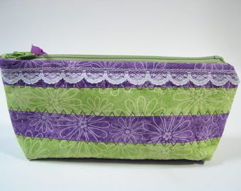 Small Cosmetic Bag, Makeup pouch, Small Toiletry Bag.