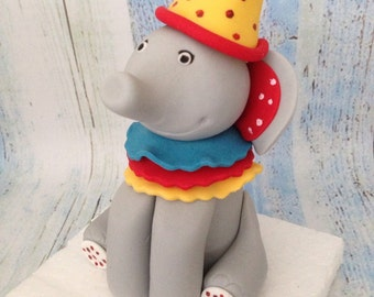 Circus  Elephant cake topper with fondant