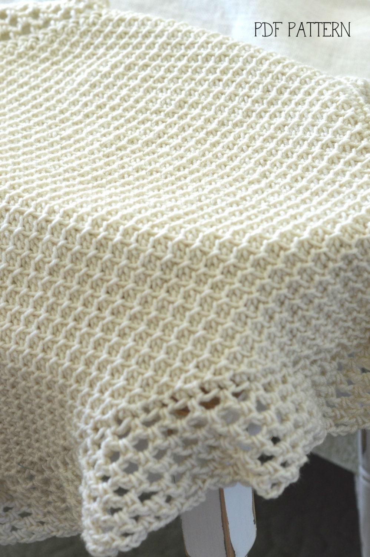 TUNISIAN Crochet Blanket Pattern, Baby Afghan Pattern, Vintage Look ...