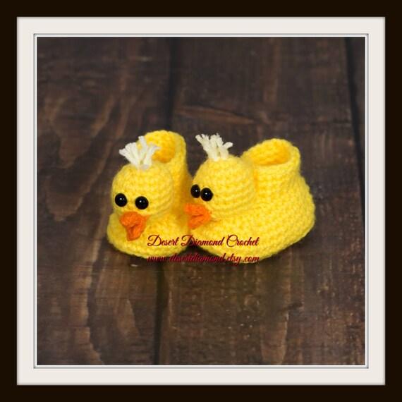 Crochet Pattern 016 - Duckie Animal Baby Booties