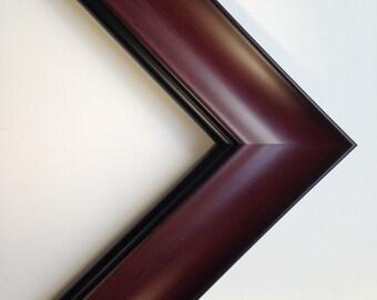 "Custom Frame, Cherry Color Wood Frame, 2 1/4"" Wide"