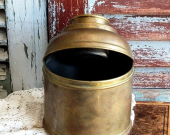 Vintage Brass Plated Humidor by avintageobsession on etsy