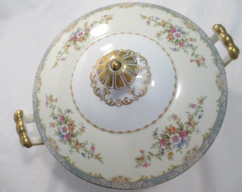 Vintage Noritake China Naomi Round Covered Serving Bowl, Thanksgiving, Christmas, Shabby, Farmhouse, Wedding, Bridal Luncheon, Chic
