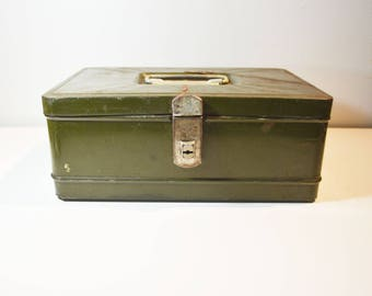 Rustic Emerald Green Safe/Strong Box