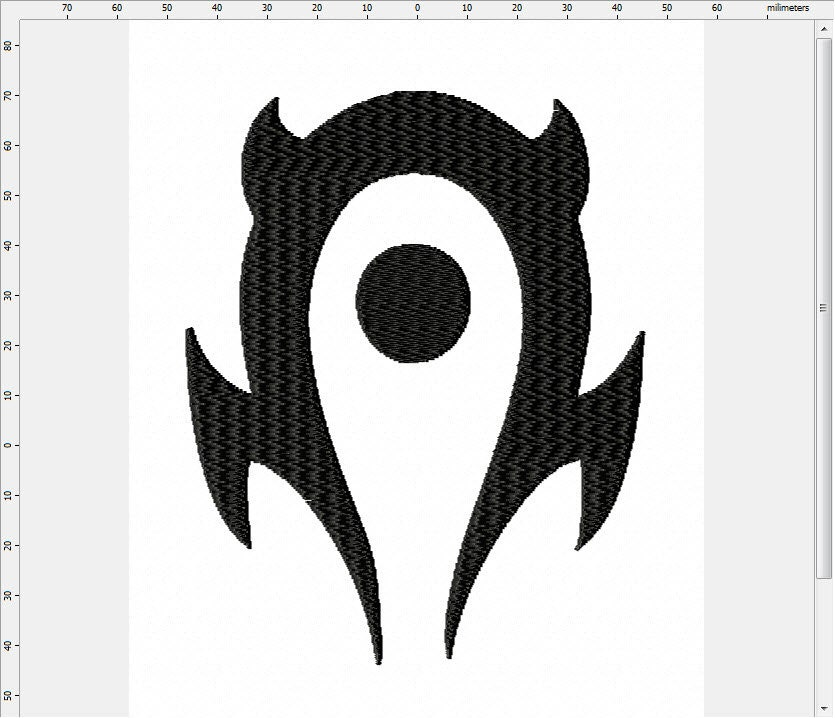World Of Warcraft Pvp Horde Symbol Machine Embroidery Design From