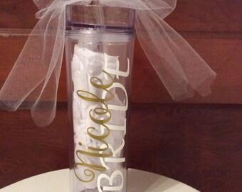 BRIDE Skinny Tumbler - Personalized