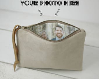 Maid Of Honor Gift. Photo Clutch. Photo Bridesmaid Clutch. Personalized Purse. Wedding Party Gifts